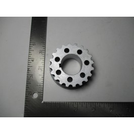 timing belt gear on crankshaft