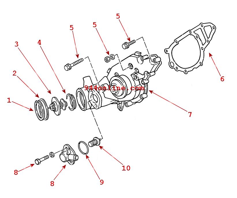 porsche 968 exhaust system diagram